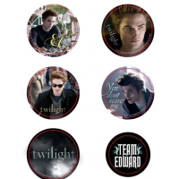 Twilight - Pin Set of 6 Style D Team Edward