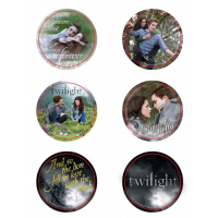 Twilight - Pin Set of 6 Style E Edward and Bella