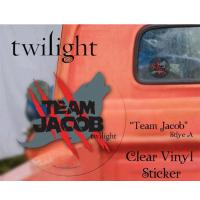 Twilight - Sticker Clear Vinyl Team Jacob