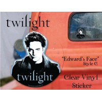 Twilight - Sticker Clear Vinyl Style C Edward