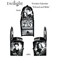 Twilight - Calendar Wooden Edward and Bella