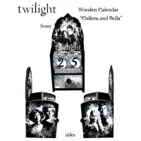 Twilight - Calendar Wooden Bella and Cullens