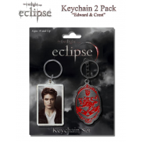 The Twilight Saga: Eclipse - Keychain 2-Pack Edward and Crest