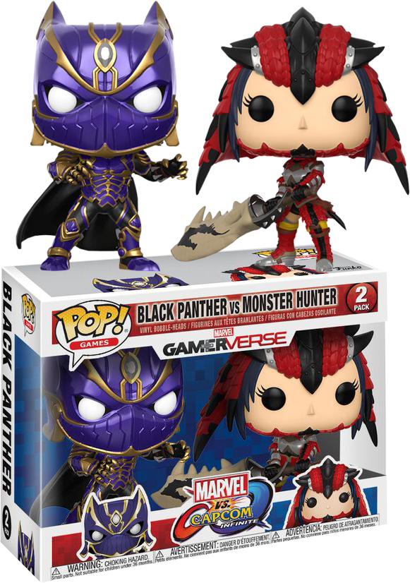 Gamerverse Marvel Vs Capcom Captain Marvel Vs Chun-Li 2 Pack Funko POP